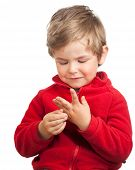 Toddler Boy Counting With Fingers