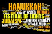 picture of hanukkah  - Hanukkah celebration concepts word cloud illustration - JPG