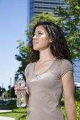 Urban Woman With Water Bottle