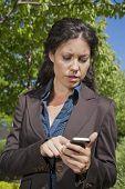 Woman Reading Smartphone