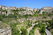 Buildings known as Casas Colgadas in Cuenca, Castilla La Mancha, Spain.
