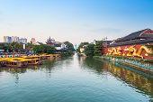 Nanjing Confucius Temple At Dusk