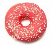 Pink, Red Donut With Sugar Sprinkles