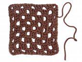 Crochet Doily - Brown Granny Square