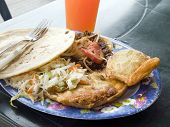 Mixed Plate Of Street Food Leon Nicaragua