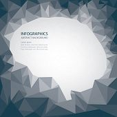 Brain Shape Abstract Polygon Style Background