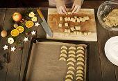 Vanilla Biscuits Are Prepared