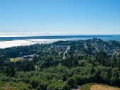 foto of coxcomb  - A View of Astoria Oregon from Coxcomb Hill the Location of the Astoria Column - JPG