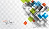 eps10 vector geometric overlapping square elements business background