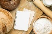 image of recipe card  - Recipe and menu background - JPG