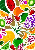 graphic fruit background