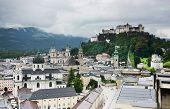 Aerial View of Salzburg, Austria, Europe