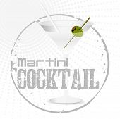 Martini Cocktail Stamp