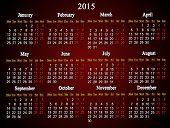 Claret Calendar On 2015 Year