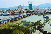 stock photo of mud-hut  - view of the city Nha trang - JPG