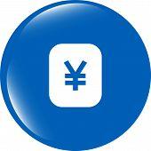 Yen Jpy Sign Icon. Web App Button. Web Icon
