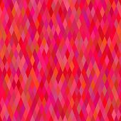 Abstract background Red rhombus tile mosaic Seamless pattern