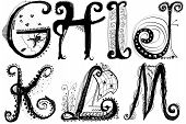 Curly Playful Alphabet - G To M