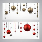 Abstract background with christmas baubles. Vector illustration.