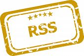 Rss Grunge Rubber Stamp Isolated On White