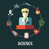 Different sciences flat concept
