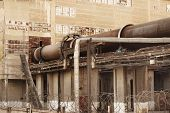 Old Ukrainian plant of cement production