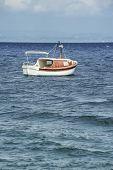 Boat In The Mediterranean Sea.