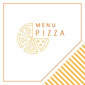 Design menu. Pizza.