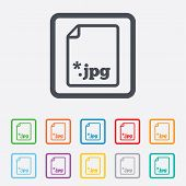 File JPG sign icon. Download image file.