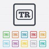 Turkish language sign icon. TR translation