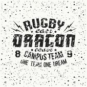Campus Rugby Team Emblem