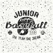 College Baseball Junior Team Emblem
