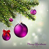 Christmas Background and Christmas fir tree
