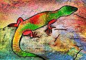 Children's Drawing Of A Lizard