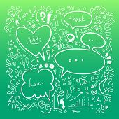 Hand Drawn Sketch Illustration - Speech Bubbles