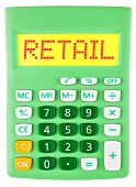 Calculator With Retail On Display Isolated