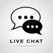 Live Chat Speech Bubbles Concept
