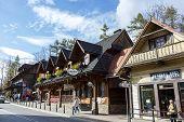 Wooden Stylish Building In Zakopane
