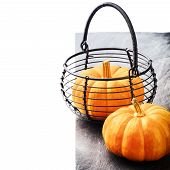 Autumn Still-life With Small Pumpkins