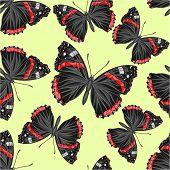 Seamless Texture Butterfly -vanessa Cardui