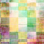 Retro background with grunge texture. With different color patterns: yellow, brown, purple (violet), green