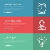 Flat design concept for management, HR, creative idea