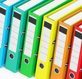 The Colorful Ring Binders