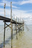 Jetty For Fishing In Gironde Medoc