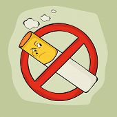 stock photo of anti-cancer  - Anti smoking sign and symbol on stylish background for No Smoking Day - JPG