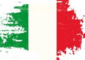 picture of italian flag  - Scratched italian Flag - JPG