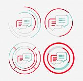 stock photo of neat  - Thin line neat design logo set - JPG