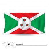 stock photo of burundi  - Flag of Burundi  - JPG