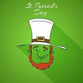 picture of leprechaun  - Happy St - JPG