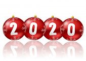 pic of witch ball  - 2020 new year illustration witch christmas balls - JPG
